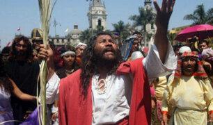 """Chincha: """"Cristo Cholo"""" escenificó Vía Crucis previo a Semana Santa"""