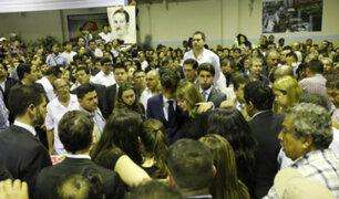 Alan García: Federico Danton y Carla García arribaron a Lima para el velorio de su padre