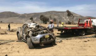 Áncash: empresario pierde la vida tras volcarse el vehículo que manejaba