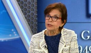 """Mercedes Cabanillas: """"La policía no debió dejar solo a Alan García"""""""
