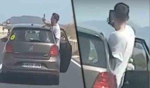 España: joven intenta sacarse un selfie arriesgando su vida en autopista