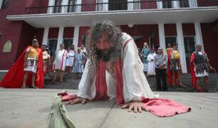 Semana Santa 2019: 'Cristo Cholo' asegura que cargará cruz de 90 kilos a pesar de estar convaleciente