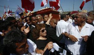 Alan García: familiares y simpatizantes le dan el último adiós en Huachipa