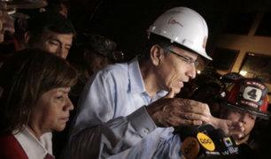 Mesa Redonda: Presidente Vizcarra llegó hasta zona de incendio