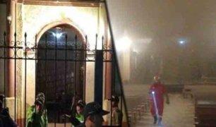 Huánuco: techo de iglesia colapsa en Viernes Santo y deja tres heridos