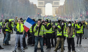 """""""Chalecos amarillos"""": tensión en París en nueva jornada de protestas"""
