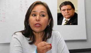 "Nidia Vilchez  sobre carta de Alan García ""la escribió semanas atrás"""