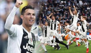 Juventus se coronó campeón de la Serie A de la mano de Cristiano Ronaldo