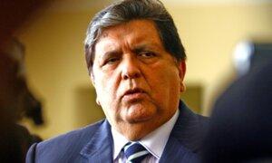 Alan García: detectan sospechosas transacciones en cuentas del exmandatario