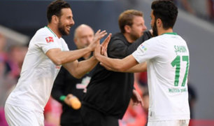 Claudio Pizarro ingresó y fue ovacionado en el Allianz Arena