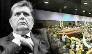 IMÁGENES EXCLUSIVAS | ¡Adiós a García!: político recibió homenaje de simpatizantes y militantes apristas