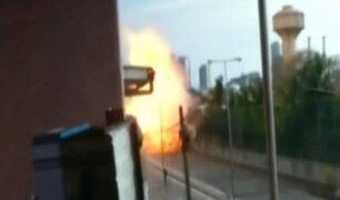 Sri Lanka: captan momento de explosión en iglesia de San Antonio