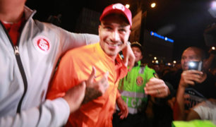Paolo Guerrero arribó a Lima con Inter de Porto Alegre