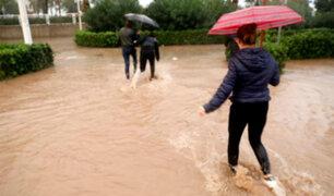 España: torrenciales lluvias afectan a la Comunidad Valenciana