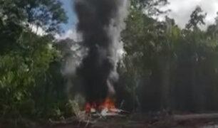 Oxapampa: autoridades ubican aeronave extranjera que iba transportar droga