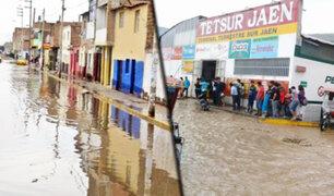 Jaén: intensa lluvia inundó colegio, centro de salud y campos de cultivo