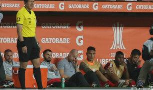 Guerrero quedó lesionado durante partido entre Inter y Alianza Lima