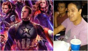 Avengers Endgame: hombre llevó arroz chaufa a sala de cine durante estreno