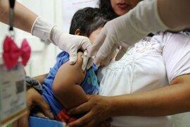 Vacunación de menores de edad disminuyó 40 %