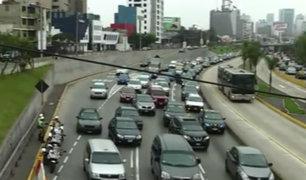 Vía Expresa: tráfico desde tempranas horas por cierre de carril