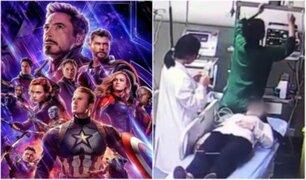 Joven fue hospitalizada porque no podía dejar de llorar al ver Avengers Endgame