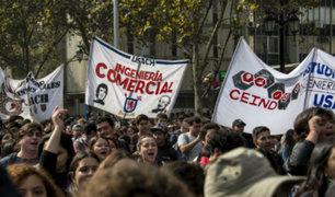 Chile: estudiante rechazan leyes del presidente Piñera