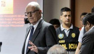 Sala deja al voto pedido de arresto domiciliario para ex presidente Kuczynski
