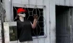 Iquitos: maniquí es usado para 'espantar' a delincuentes