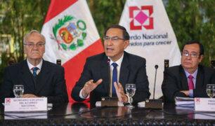 """FAN: presidente Vizcarra pidió mantener la unidad y dejar de lado """"ataques"""" al Gobierno"""