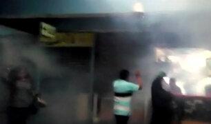 Polvos Azules: fumigan centro comercial cuando aún estaba llena de clientes