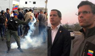 Venezuela: Guaidó y López encabezan levantamiento militar contra Maduro