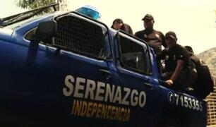 Independencia: serenos realizan intervenciones en cerros para frenar la delincuencia