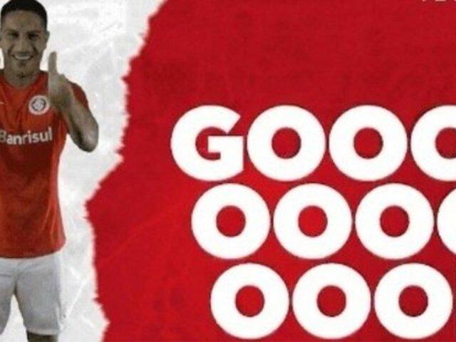 ¡Gooool! Así narró el canal oficial del Inter el primer gol de Guerrero