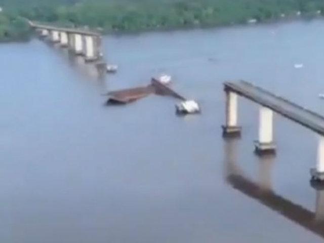 Colapsó puente de 800 metros en Brasil