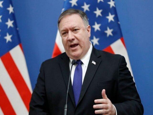 Pompeo: EE.UU. contribuirá a evitar que protestas en Latinoamérica se conviertan en revueltas