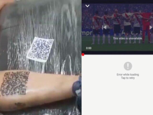 Fanático se tatúa enlace a goles de su equipo en YouTube, pero horas más tarde eliminan video