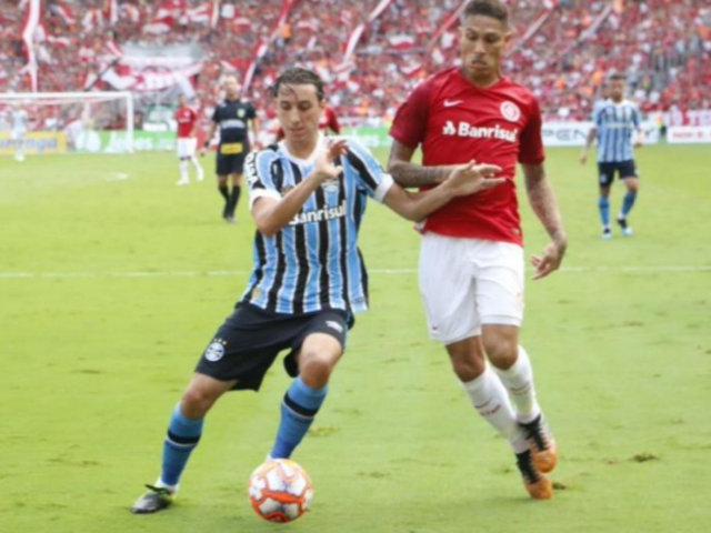 Paolo Guerrero: Internacional vs Gremio quedaron 0 - 0 por la primera final del Campeonato Gaúcho