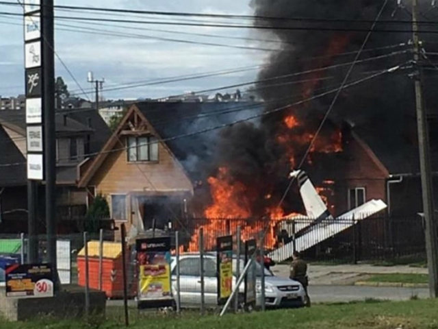 Chile: avioneta cae sobre casa y deja seis fallecidos