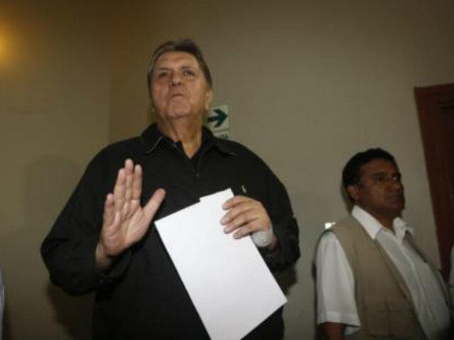 Ministra de Salud sobre Alan García:
