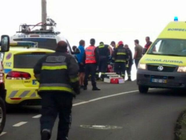 Portugal: al menos 29 muertos tras caer bus a un abismo