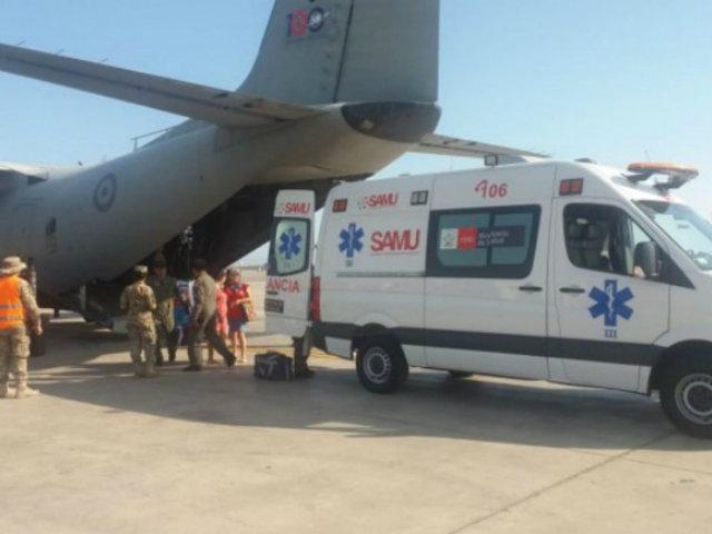 Desinfectan al  personal, buses y armamento de la Fuerza Aérea del Perú