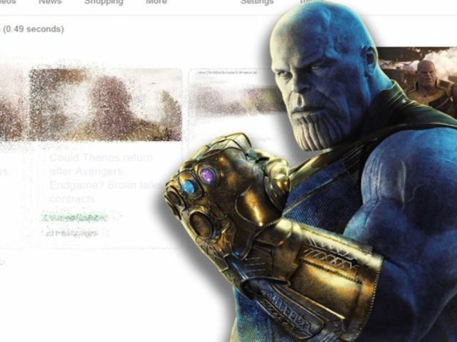 Mira lo que sucede cuando buscas ''Thanos'' en Google