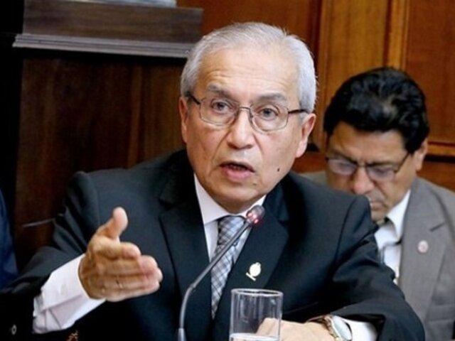 Chávarry: dejé sin efecto remoción de fiscales Pérez y Vela por intervención del Presidente