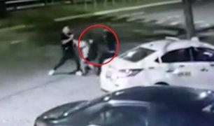 Surco: extranjeros intentaron asaltar a taxista con arma de juguete