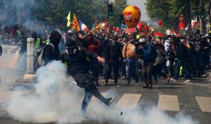 Francia: disturbios en París durante protestas por el Día del Trabajo