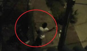 SMP: ciudadanos extranjeros son captados lanzando piedras a vivienda