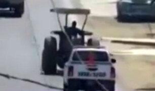Cañete: detienen a hombre que manejaba tractor en aparente estado de ebriedad
