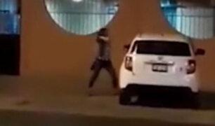 Trujillo: mujer destrozó auto de su pareja por infidelidad