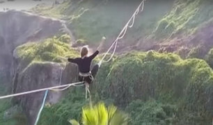 Miraflores: intervienen a sujetos que practicaban canopy sin autorización