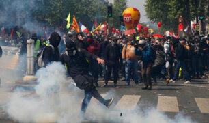 Francia: manifestaciones por Día del Trabajo dejaron más de 300 detenidos y cerca de 40 heridos